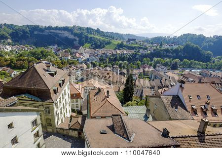 Aerial View Of Fribourg