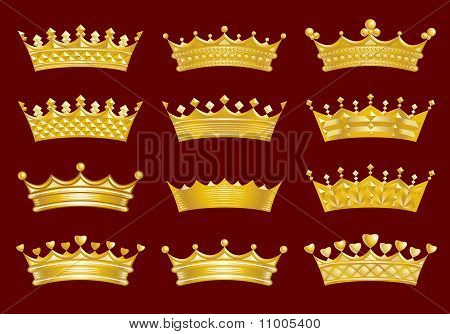 Golden crowns set