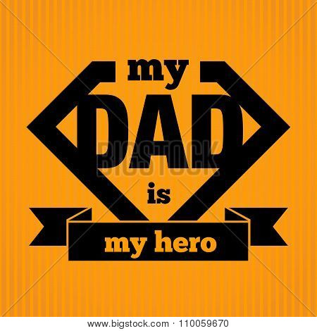 Silhouette Symbol of Father is My Hero