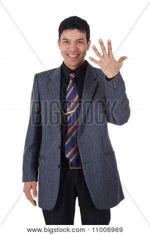 Attractive Nepalese Businessman, Fingers