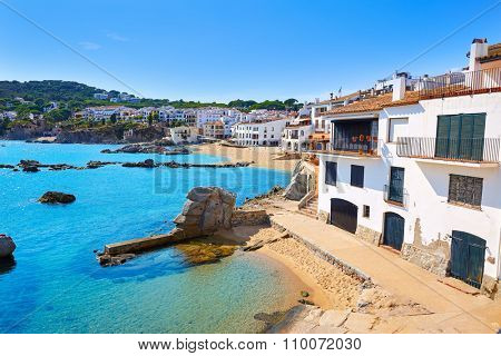 Calella de Parafrugell beach in Costa Brava of Girona at Catalonia Spain