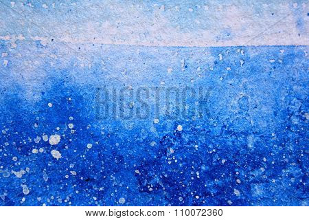 Blue Watercolor with snow background 14