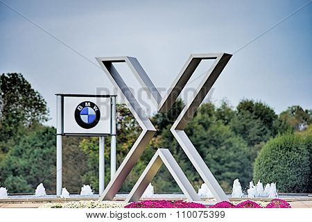 Spartanburg Sc - October 2015   Sign At The Bmw Assembly Plant In Spartanburg, South Carolina On Jul