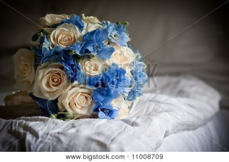 Bouquet on Bed