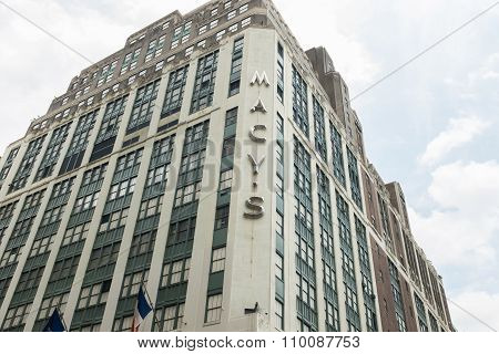 NEW YORK, UNITED STATES - JUNE 20, 2015: Macy's Herald Square is the flagship of Macy's department stores, located on Herald Square in Manhattan, New York City.