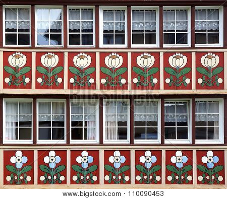 The ancient unique windows of Appenzell Switzerland