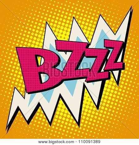 bzzz voltage electricity energy comic bubble retro text