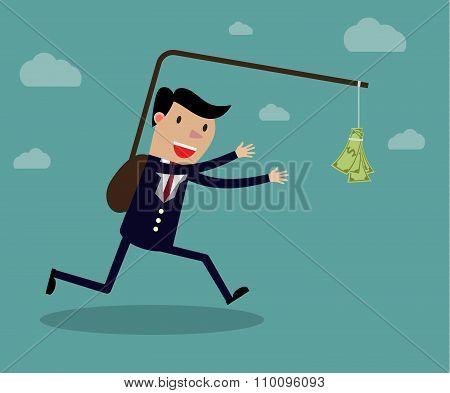 Business executive running