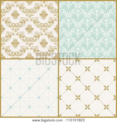 Vector seamless pattern with art ornament. Vintage elements for design in Victorian style. Ornamental lace tracery background. Ornate floral decor for wallpaper