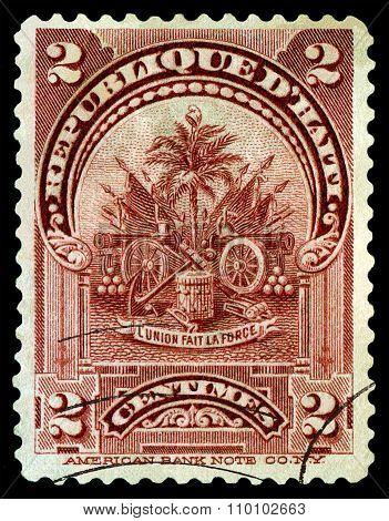 Vintage  Postage Stamp. Symbols Revolution.