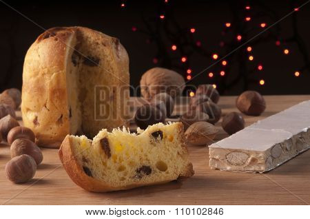 Panettone And Torrone Sweet