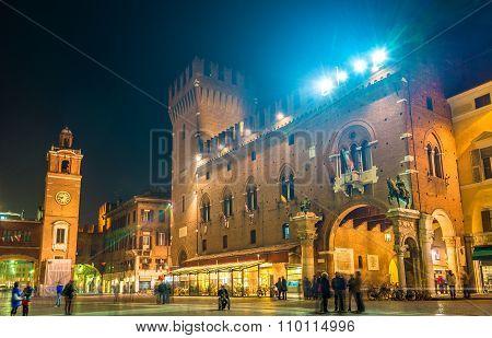 Town Hall (palazzo Municipale) Of Ferrara - Italy