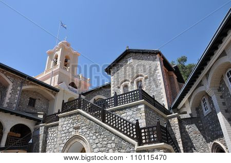 Kykkos Monastery And The Greek Flag