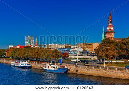 Old Town and River Daugava, Riga, Latvia