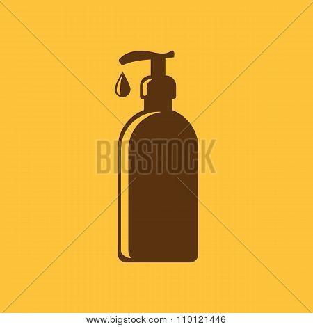 The Liquid Soap, Lotion, Cream, Shampoo icon. Shower Gel symbol. Flat Vector illustration poster