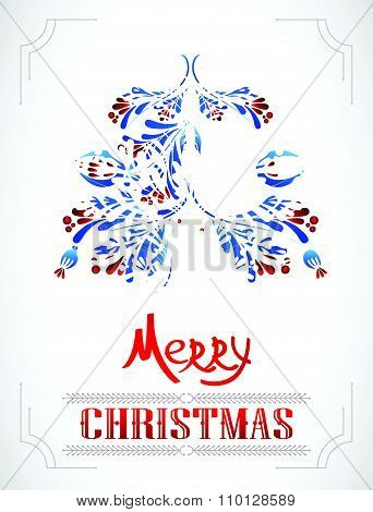 Greeting christmas card. Vector illustration