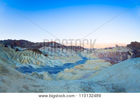 Panorama of mountains in the Zabriskie point