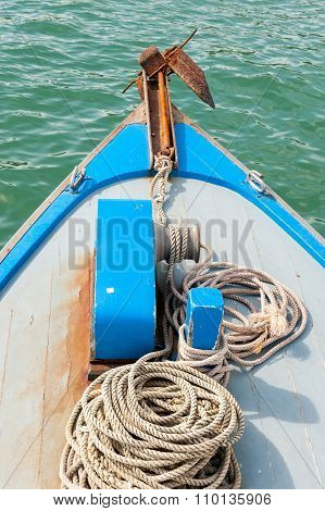Anchor on boat