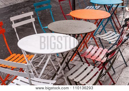 Outside tables
