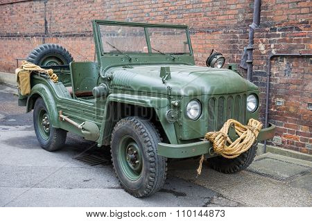 Vintage green military vehicle
