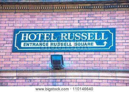 Famous Four Star Hotel Russell On Russell Square. London