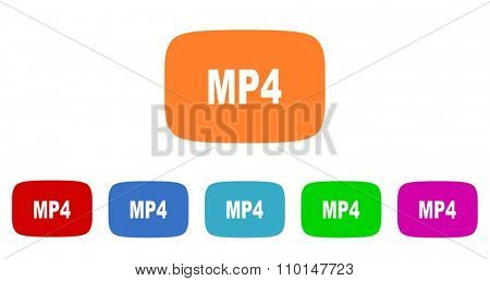 mp4 flat design modern icon