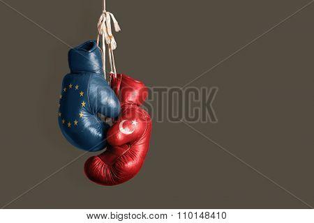 Symbol Of The Politics Between Turkey And Eu
