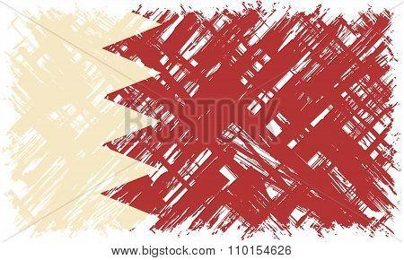 Bahraini grunge flag. Vector illustration.