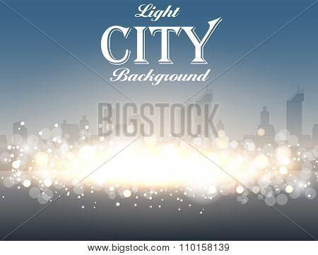 Light City Background Vector Illustration