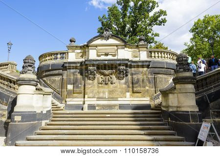 Stone Staircase In Dresden