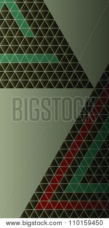 Vintage Composition Triangles Background Vertical Banner