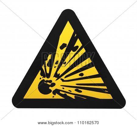 Explosives Warning Sign