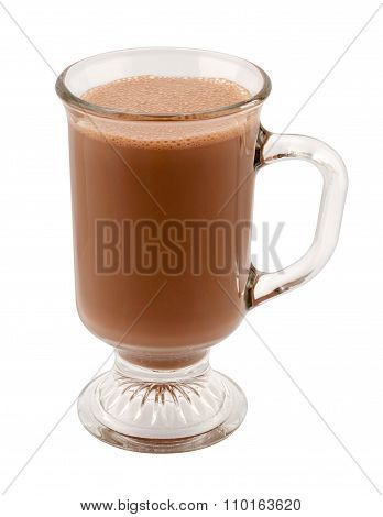 Hot Chocolate In A Glass Mug