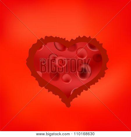 Red Stilized Heart
