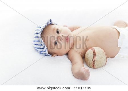 Baby Baseball Player