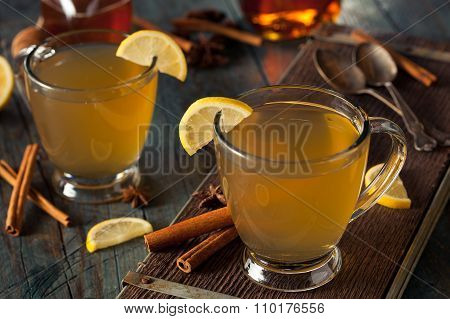 Warm Hot Toddy With Lemon