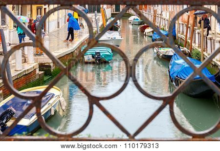 Venice on a rainy day.