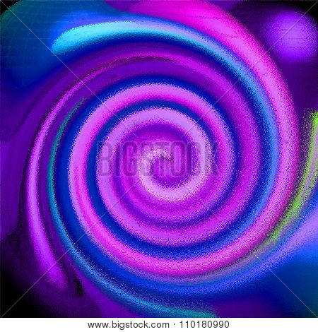 colored psychedelic spiral