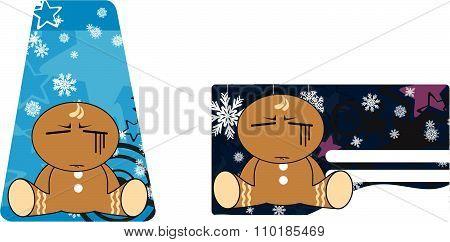 gingerbread kid cartoon gift card