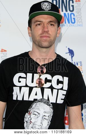 LOS ANGELES - JUL 30:  Scott Pfaff at the Clayton Kershaw's 3rd Annual Ping Pong 4 Purpose at the Dodger Stadium on July 30, 2015in Los Angeles, CA