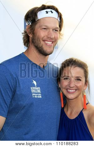 LOS ANGELES - JUL 30:  Clayton Kershaw, Ellen Kershaw at the Clayton Kershaw's 3rd Annual Ping Pong 4 Purpose at the Dodger Stadium on July 30, 2015in Los Angeles, CA