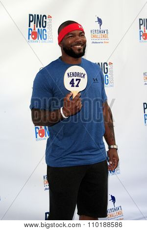 LOS ANGELES - JUL 30:  Howie Kedrick at the Clayton Kershaw's 3rd Annual Ping Pong 4 Purpose at the Dodger Stadium on July 30, 2015in Los Angeles, CA