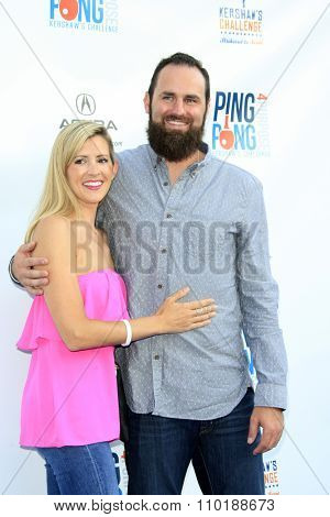 LOS ANGELES - JUL 30:  Audrey Van Slyke, Scott Van Slyke at the Clayton Kershaw's 3rd Annual Ping Pong 4 Purpose at the Dodger Stadium on July 30, 2015in Los Angeles, CA