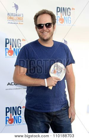 LOS ANGELES - JUL 30:  David Berman at the Clayton Kershaw's 3rd Annual Ping Pong 4 Purpose at the Dodger Stadium on July 30, 2015in Los Angeles, CA