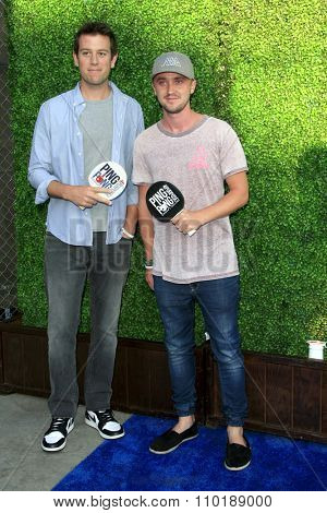 LOS ANGELES - JUL 30:  Ben Lyons, Tom Felton at the Clayton Kershaw's 3rd Annual Ping Pong 4 Purpose at the Dodger Stadium on July 30, 2015in Los Angeles, CA