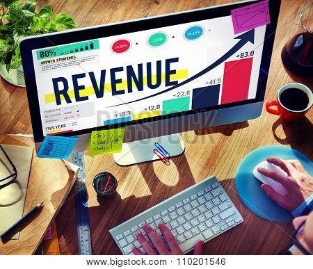 Revenue Profit Income Finance Money Concept poster