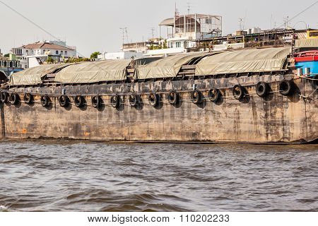 Barge On Chao Praya River