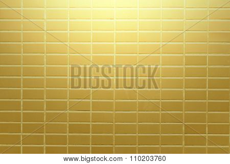 Gold Wall Blick Bright On Background Texture.