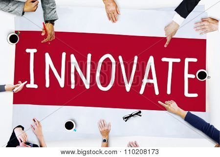 Innovate Innovation Ideas Inspiration Invention Concept poster