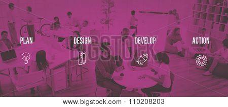 Strategy Startup Business Plan Desigh Action Ideas Concept